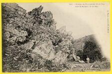 cpa St GILLES VIEUX MARCHÉ (Côte d'Armor) Gorges de POULANCRE coté sud Animés