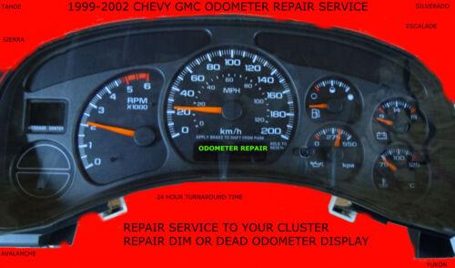 1999 2000 2001 2002 CHEVY SILVERADO CLUSTER REPAIR