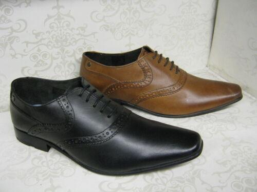 Base London Harry Negro O Café Cuero ceroso Zapato Bajo De Cuero Estilo lazada Zapatos