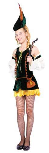 Hunter-Girl Teen Robin-Hood-Kostüm Halloween Kostüm im Alter von 10-15 #DE