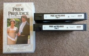 Pride-and-Prejudice-by-Jane-Austen-BBC-classics-VHS-set-Two-VHS-tapes-in-box