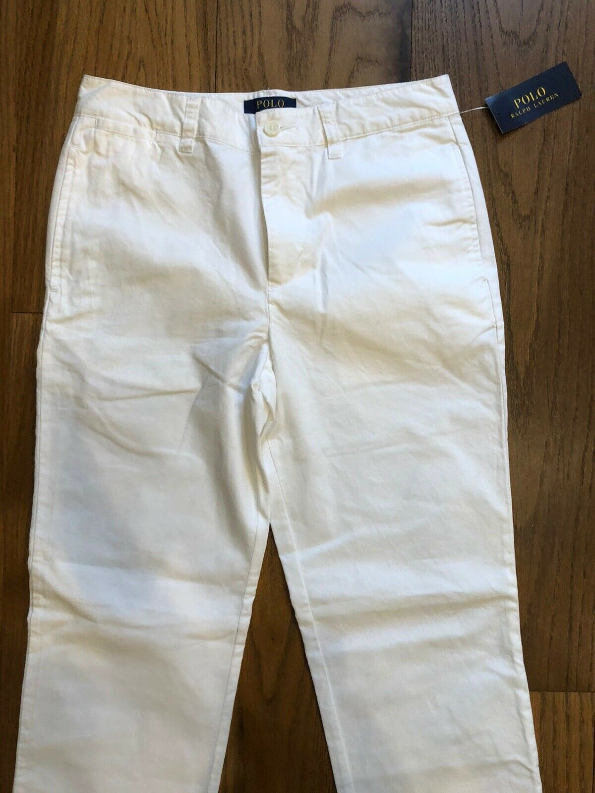 Polo RALPH LAUREN Slim Fit Cotton Twill WHITE Dress PANTS Slacks Boys Sz 16 NEW