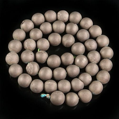 "natural matte gemstone spacer loose beads 4mm 6mm 8mm 10mm 12mm strand 15.5/"""