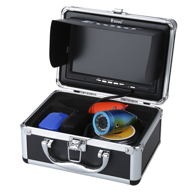 Monitor de 7  30M Cámara Subacuática 8GB DVR Grabación Fishfinder Con Luces Control