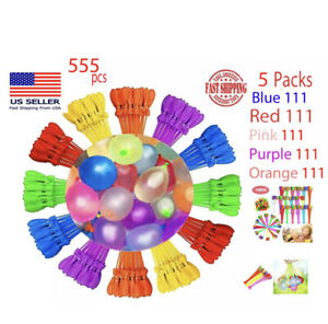 5pack-555-Bunch-Water-Balloons-Self-Sealing-Already-Tied-Fun-Summer-Pool-Toy