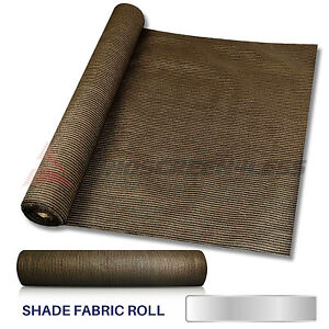 6 39 or 8 39 brown fabric shade cloth roll fence net sun wind for Wind resistant material