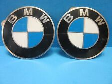 "2 Genuine Wheel Center Cap Emblems BMW OEM# 36136758569 70.0mm 2.7"" Adhesive DIY"