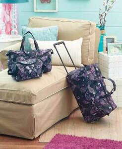 3-Pc-Overnight-Rolling-Suitcase-Luggage-Set-Travel-Duffel-Bag-Carry-Tote-Set