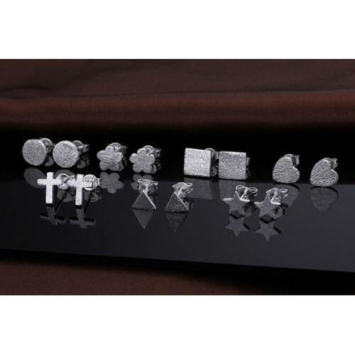 Femmes Simple Minuscule Argent Stud Silver Plaqué Boucle d/'oreille Bijoux