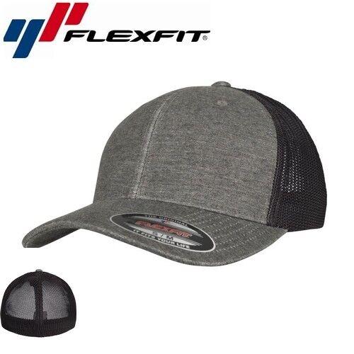 Flexfit Mesh Melange Trucker Cap S//M Khaki Schwarz