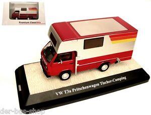 VW-Bus-T3-Premium-ClassiXXs-1-43-Pritsche-mit-Tischer-Wohnkabine-NEU-amp-OVP