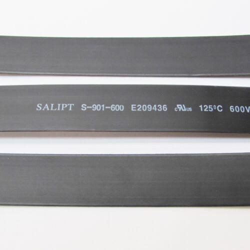 "Pulgadas//pies//a 8 mm ID 5//16/"" Negro Calor Shrink Tubo 2:1 ratio Wrap 6x9/"" = 4 ft"