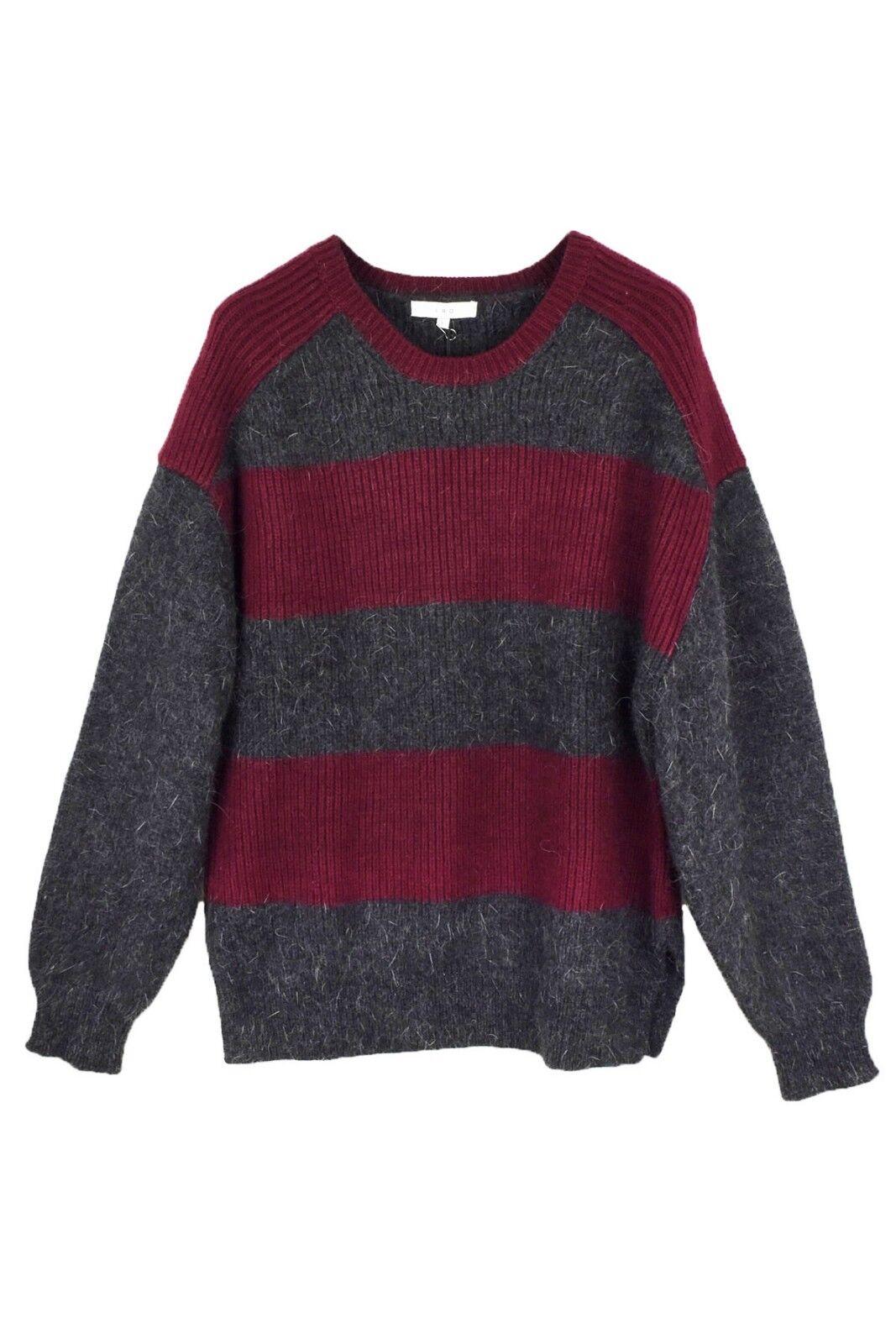 IRO angora wool blend stripe sweatshirt