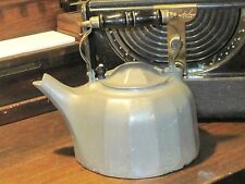 Antique Vintage Pewter Kettle Tea Pot wooden handle