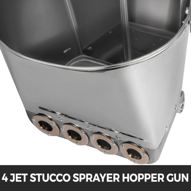 Cement Mortar Sprayer Hopper 4 Jet Paint Wall Concrete Tool Stucco Gun Spray for sale online