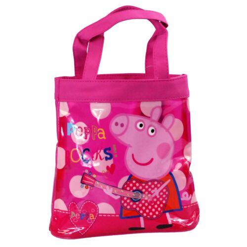 Peppa Pig  Childrens /'Peppa Rocks/' Mini PVC Shopper Tote Bag Pink Transparent