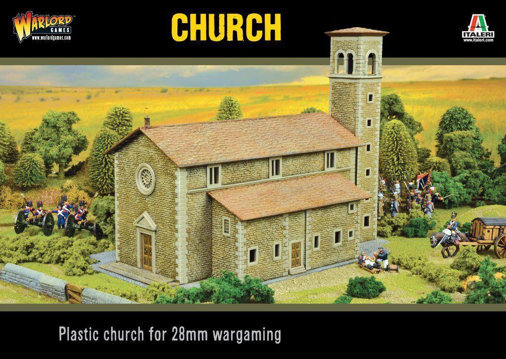 Church 28mm Warlord Games Kircheterrain Edificio negro Powder Bolt Acción