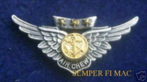 MINI-COMBAT-AIRCREW-WING-LAPEL-HAT-PIN-WITH-STARS-US-MARINES-AIRCREW-MAW-WING