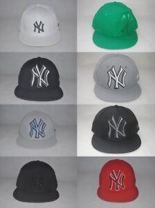f8423e59bfb New Era MLB NEW YORK YANKEES NY 59FIFTY Flat Brim Fitted Cap ...