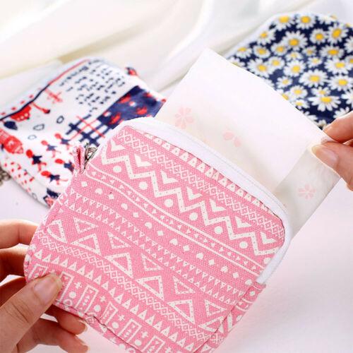Women Girls Cute Sanitary Pad Organizer Holder Napkin Towel Convenience Bags