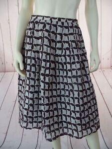 LAFAYETTE-148-NY-Skirt-8-Tan-Brown-Cotton-Silk-Textured-Blend-Pintuck-Pleats