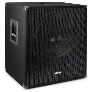 CAISSON-DE-GRAVE-SKYTEC1000W-DJ-SUBWOOFER-18-034-FILTRE-BASSE-PA-DISCOBOX-SCENE-PRO