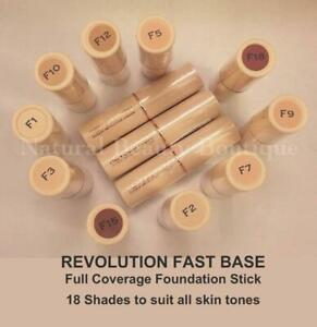 Details about MAKEUP REVOLUTION Full Coverage FAST BASE FOUNDATION Stick 18  Shades F1 F2 F3 F4