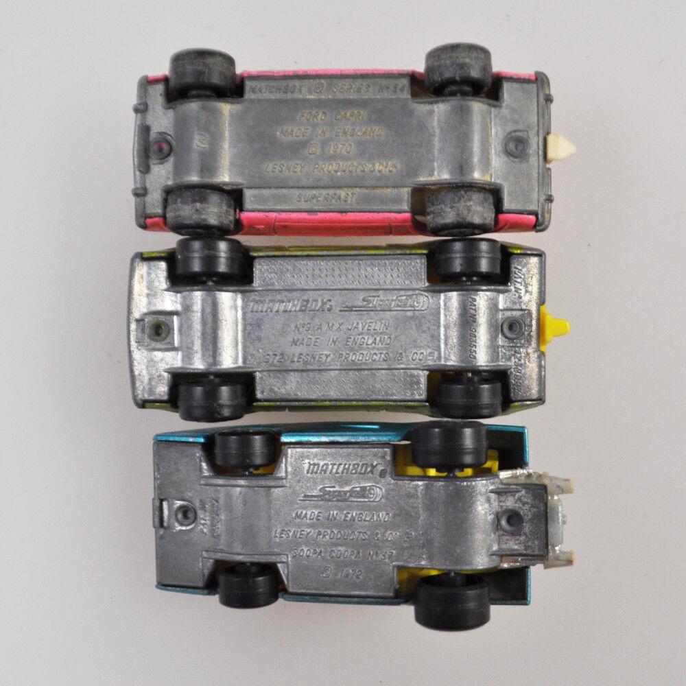 3 x x x Matchbox Superfast No. 9, 37, 54-AMX JAVELIN-FORD CAPRI-Soopa Coopa 1ced83