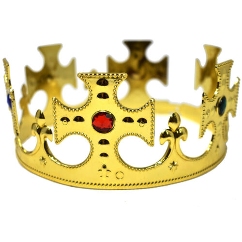 8-1//4-Inch Adjustable Diameter Medieval Kings/' Crown Gold