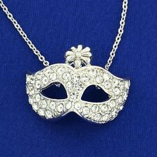 Mask W Swarovski Crystal The Phantom Of The Opera Masquerade Theater Necklace