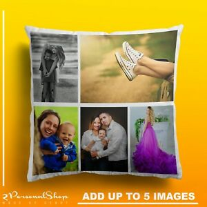 Personalised-Photo-Pillowcase-Cushion-Pillow-Case-Cover-Custom-Gift-up-to-5-pics