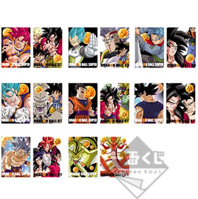 Dragon Ball Ichiban Kuji Prize F Clear file 8 types 16 sheets set F//S