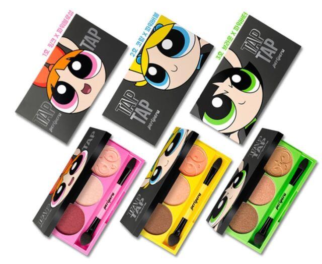 PERIPERA Tap Tap 3 Eye Shadow (Powerpuff Girls Edition) 5g 3Color