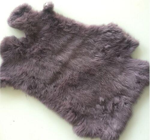 Rabbit Fur Pelt Natural Assorted Earth Tones Fur Skin Tanned Hides 9/'/'x12/'/'
