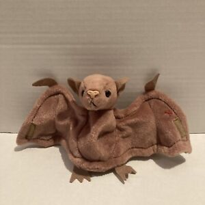 Ty Beanie Baby - BATTY the Brown Bat - MINT with MINT Tags With Tag Cover