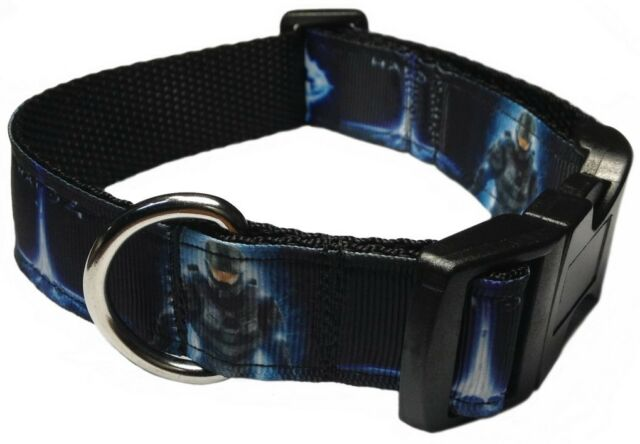 "HALO 4 - 1"" PET DOG COLLAR VIDEO GAME XBOX - Med webbing for extra comfort"