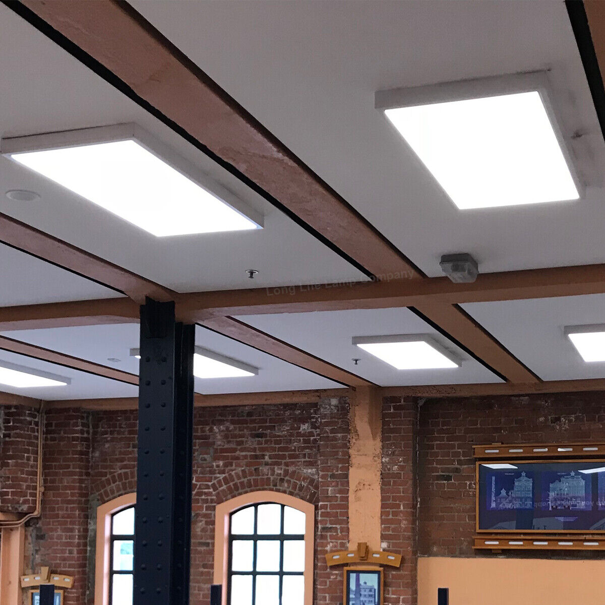 Details About 72w Ceiling Surface Mount Led Panel White Light Office Lighting 1200 X 600