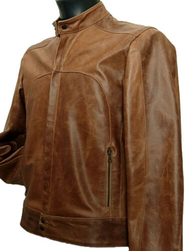 It Jacket In Leather Giubbotto Made Italy 48 Vera Pelle Tg New Uomo w1q1IP