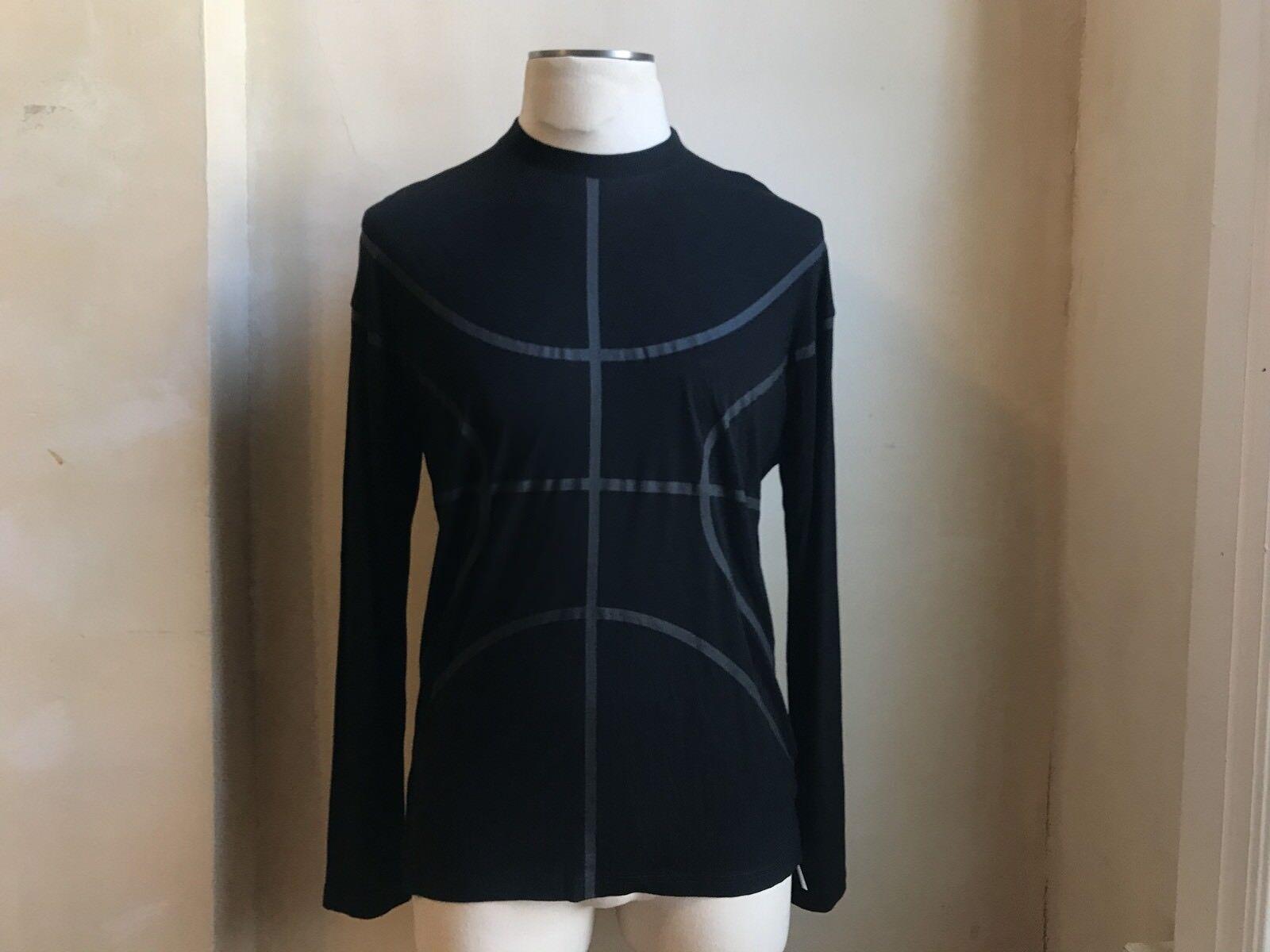 Givenchy  pista Negro Baloncesto Silhoutte Impresión de manga larga T Shirt S XS  excelentes precios