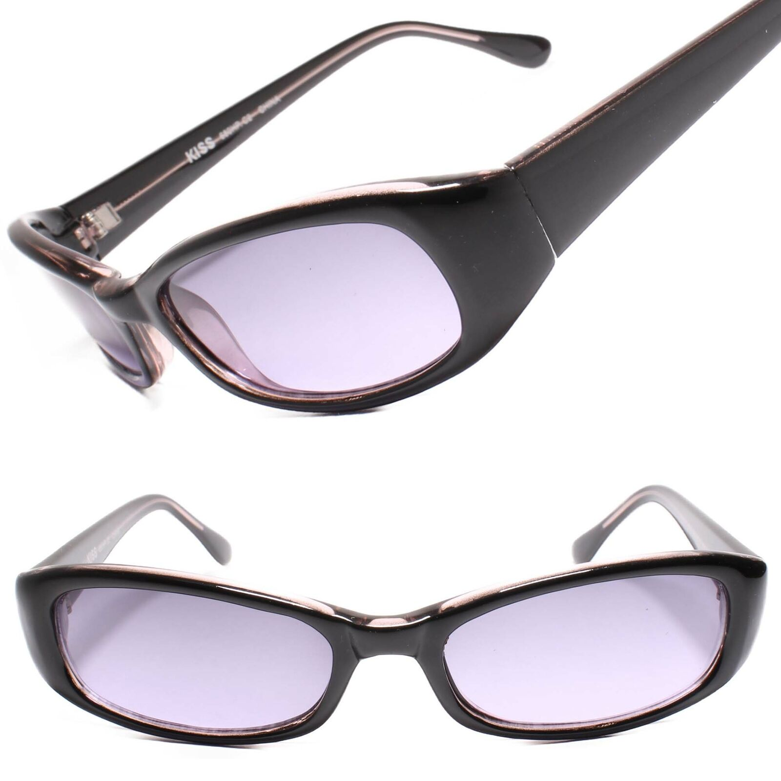 Classic True Vintage 80's Rectangle Two Tone Black & Pink Womens Sunglasses