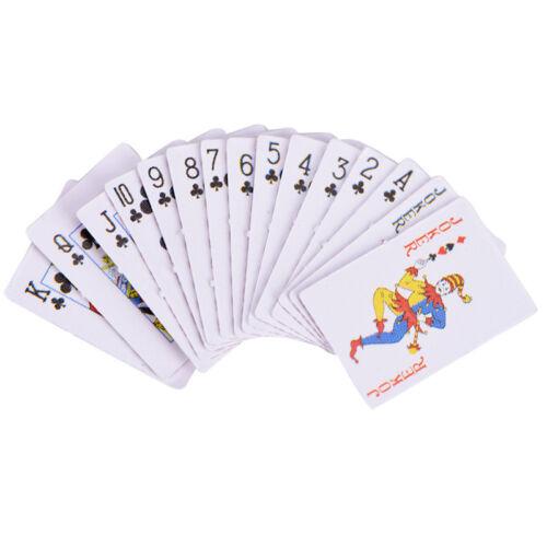 Mini Spielkarten1:12Dollhouse Miniaturs Ornament Kreative Spielzeug Pokers KarAB