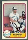 Roy Howell Baseball Auto 1981 Fleer '81 Signature Autograph Signed Card #417