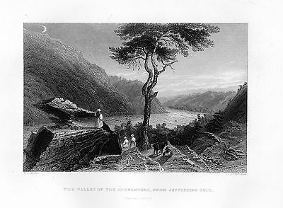 SHENANDOAH VALLEY Virginia by WH Bartlett   Steel engraved 1846