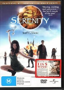 SERENITY-DVD-R4-2006-Nathan-Fillion-Alan-Tudyk-LIKE-NEW-FREE-POST