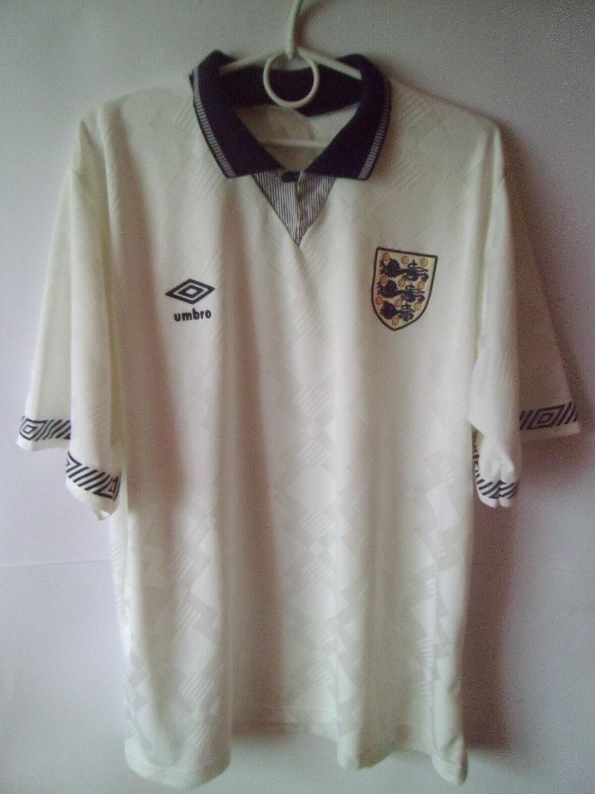 RARE    1990-92 England Home Shirt Jersey Trikot M    Rich-pünktliche Lieferung