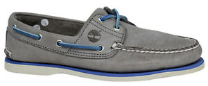 Mens Leather Lace Shoe Timberland D6 Boat eye Grey A16kc Up 2 q067p