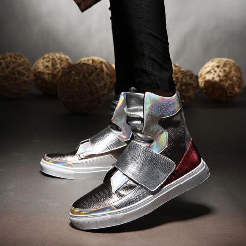 Fashion Men/'s Sneaker Casual Korean High Top Hip-hop Ankle Boots Punk Shoes xiem