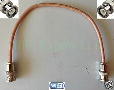 1' RG400 M17 BNC Male to BNC Male Clamp Silver coated RF cable