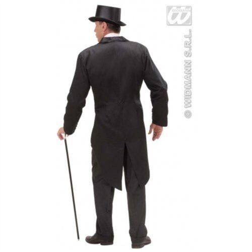 FRAC NERO XL Foderato Da Uomo Costume Extra Large per Hardy Hollywood Film Fancy