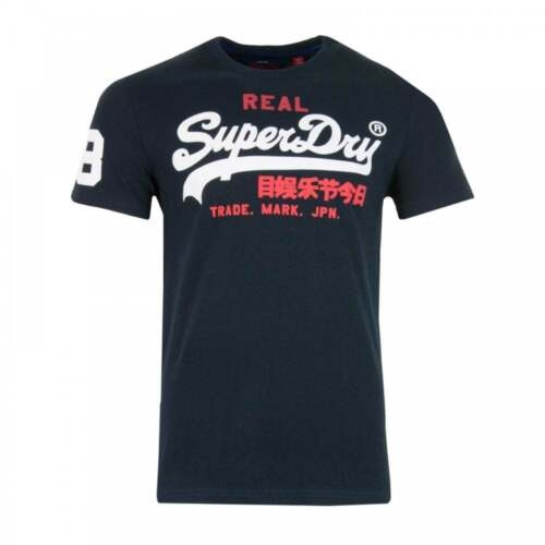 Navy Superdry Mens Vintage Tri T-Shirt